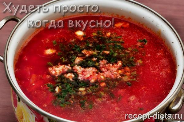 Борщ без картошки рецепт с фото
