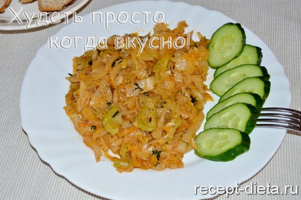 Рецепт тушеной капусты с кабачками и картошкой рецепт