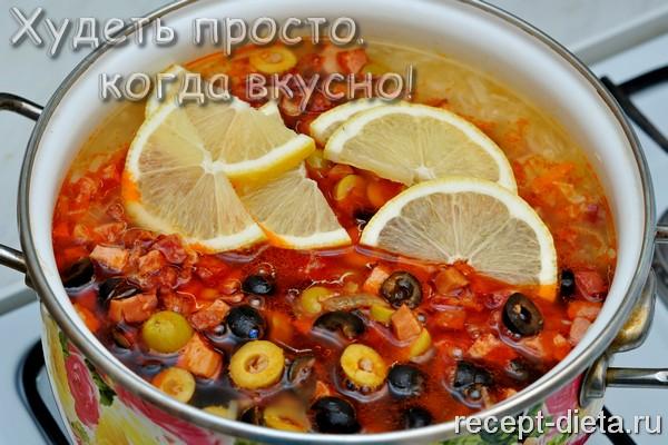 солянка рецепт с колбасой с капустой пошаговый рецепт с фото