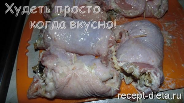 фаршированные куриные бедра рецепт
