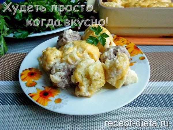фрикадельки с цветной капустой в духовке